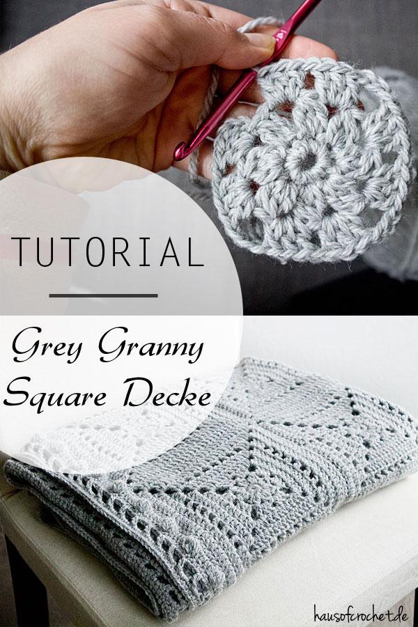 tutorial grey granny square decke. Black Bedroom Furniture Sets. Home Design Ideas