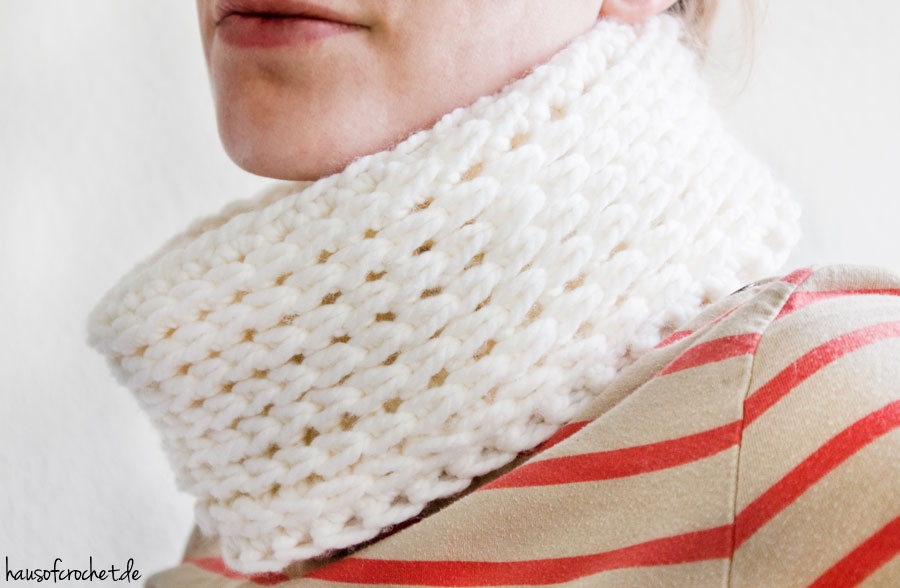 Tutorial: Cowl in Strickoptik häkeln - DIY