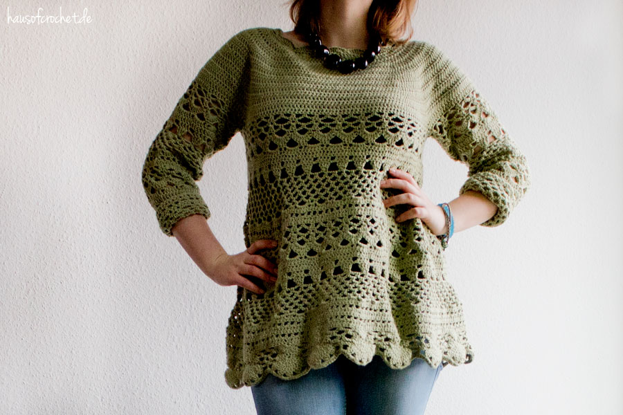 Häkelpullover Lacey Days Jumper von Drops Design