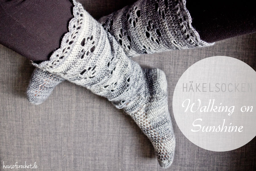 DIY Häkelsocken Walking on Sunshine