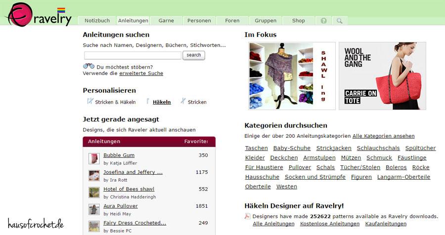 Meine fünf Lieblingswebsites für kostenlose Häkel- und ...